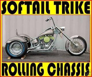 Newly listed NEW TRIKE SOFTAIL CHOPPER FRAME ROLLING CHASSIS HARLEY