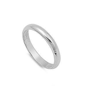 Personalized 3mm Sterling Silver Promise Ring   Free Engraving