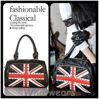 SHO British Flag Shoulder Bag Womens Purse Tote Handbag with Coin