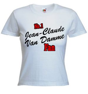 No 1 Jean Claude Van Damme Fan T Shirt   Personalised Customise With