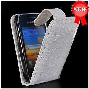 CROCODILE FLIP LEATHER POUCH CASE COVER FOR SAMSUNG GALAXY Y S5360