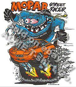 Shirt Mopar Street Racer Ed Roth Shirt Big Daddy T Sz M L XL 2XL 3XL
