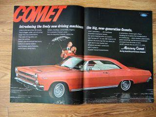 1966 Mercury Park Lane Comet Cyclone GT Ad