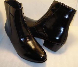 ITALO mens boot BLACK CUBAN heel US sz 10.5 W