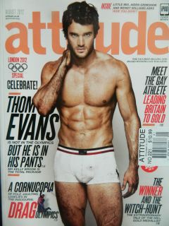 Attitude Magazine Aug 2012  UK   Thom Evans Sect A
