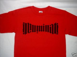 Illuminati DaVinci brown code cool red t shirt