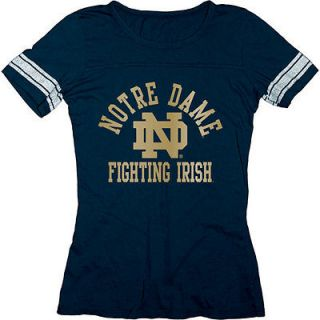 Notre Dame Fighting Irish Womens Empty Ring Spun Jersey T Shirt