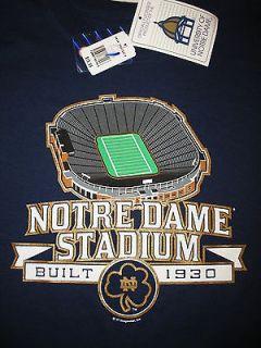 Notre Dame Football Stadium Adult Size X Large T Shirt XL Navy