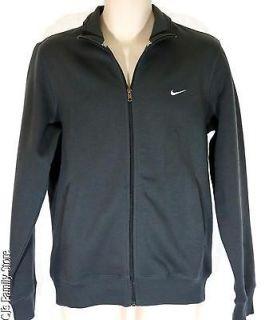 Nike Classic Fleece Track Jacket Mens XL Dark Gray Zip Front