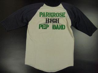 70s Russell Men L T Shirt Parkrose High Pep Band Baseball Tee Camp USA
