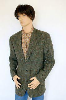 Harris Tweed Blazer Check Jacket Indie Retro Gent Dapper Dr Who 44