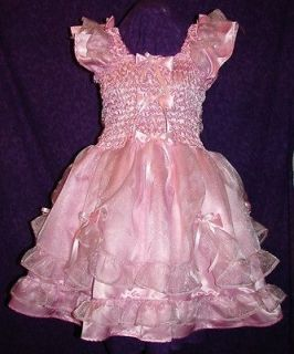Darling Satin Organza Pink Adult Baby Sissy Custom Aunt D