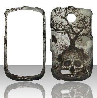 Samsung Dart T499 T Mobile Tree Skull Design Case Cover Hard Snap on