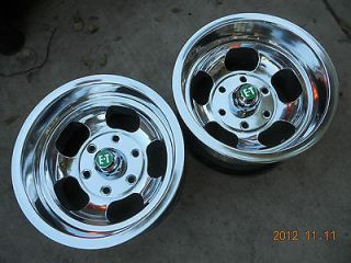 JUST POLISHED 14x8.5 INDY SLOT MAG 6 LUG WHEELS CHEVY TRUCK GMC VAN