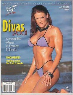 WWE Divas 2001 female wrestling magazine LITA,Terri, Jacqueline,Deb ra