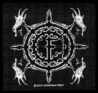 Carpathian Forest Goat Head Death Metal Music Band Woven Badge