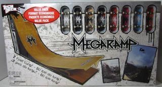 Tech Deck MEGA RAMP VALUE PACK Exclusive With 8 FINGER BOARDS BNIB NEW