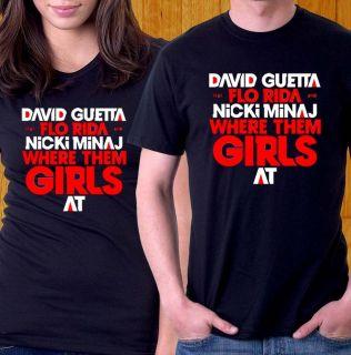 SHIRT DAVID GUETTA FLO RIDA NICKI MINAJ WHERE GIRL AT