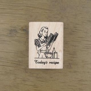 Decorative Stamps Vintage Todays Recipe Rubber Stamp