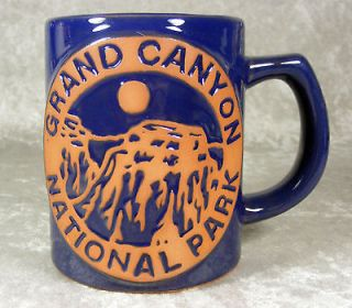 Grand Canyon National Park Embossed Navy Blue Brown Arizona Souvenir