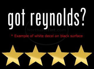 got reynolds? Vinyl wall art truck car decal sticker