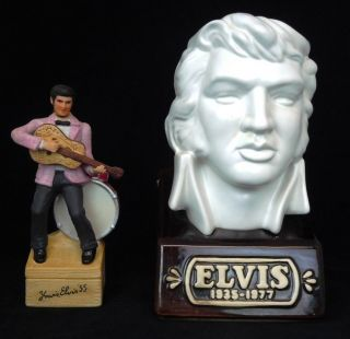 Lot of 2 EMPTY Elvis Presley McCormick Whiskey Decanters (Bottles) LE
