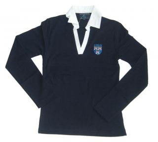 Dublin Ireland Ladies Rugby shirt Navy New D4004 size 12/14