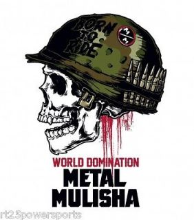 Metal Mulisha 12 inch Full Metal Sticker Stickers Deegan Skull Helmet