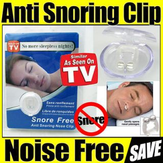 Stop Snore Free Anti Snoring Nose Clips Sleep Apnea Aid Guard Night
