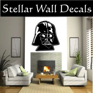 Darth Vader Head Star Wars Wall Car Vinyl Decal Sticker