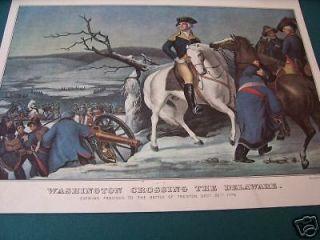 Currier & Ives Print   Washington Crossing Delaware BOG2