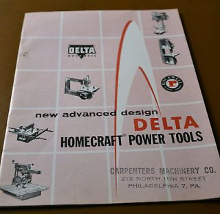 1957 Delta Rockwell Power Tools Catalog Lathe Hand Tools Jointer Saws