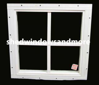 Storage Shed Windows 12 x 12 square White, playhouse