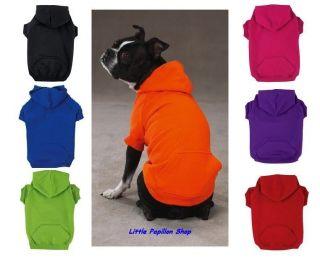 Zack & Zoey Basic Dog Hoodie Soft Cotton Pet Shirt XS, SM, MED, LG