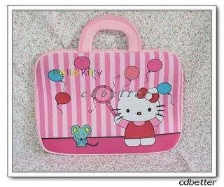 Hello Kitty Notebook Laptop Computer Bags Carrying Case with Handles