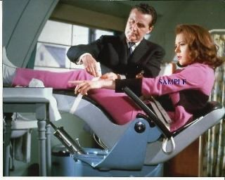 The Avengers Diana Rigg Emma Peel Patrick Macnee John Steed in Chair