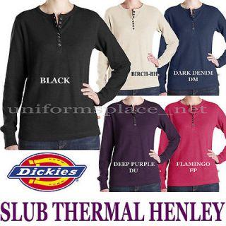 Dickies Women Lady Shirt Slub Thermal Hanley tops shirts colors XS S M
