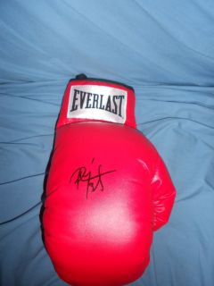 PEDRO DIAZ Signed Boxing Glove Champ Miguel Cotto Trainer