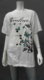 Designer SH1.2 Realtree Ladies Womens S Floral Short Sleeve Graphic