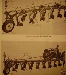 John Deere 370 380 Series Drawn Plow Parts Catalog jd