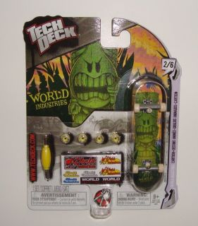 Tech Deck World Industries Green Tiki Dude Cartoon 2/6 96mm