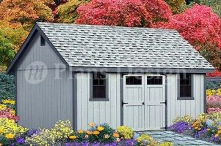 Storage Shed Plans 16 x 16 Gable Roof Style #D1616G, Material List