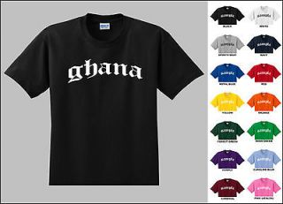 Country of Ghana Old English Font Vintage Style Letters T shirt