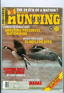 1982 Huning Magazine Shooing Preserves Naionwide/Blinds for Deer