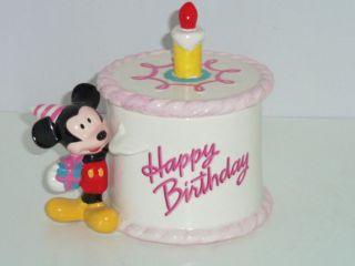 Disney Flowers Mickey Mouse Happy Birthday Ceramic Planter Flower Pot