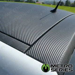 Flexible Black 3D Carbon Fiber Vinyl Hood Roof Wrap Sheet 5ft x 5ft