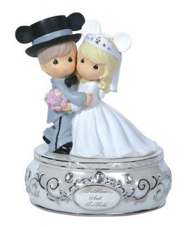 Precious Moments Disney Mickey Minnie Wedding Couple Musical Figurine