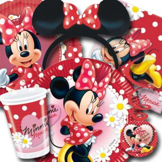 Disney MINNIE MOUSE Red Polka Dots Tableware Decorations All Under One