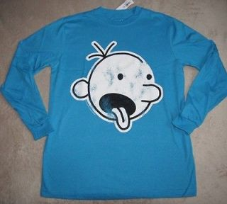 DIARY OF A WIMPY KID Book Crazy* Turq L/S Tee Shirt sz 14/16