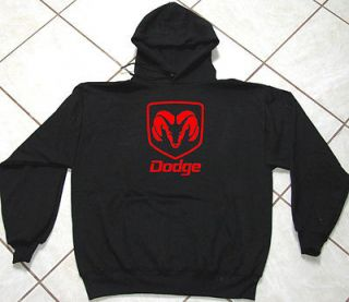 Black Sweat, Motor Sports, Auto, Red Dodge Ram, 50 / 50 Blend, S   5XL